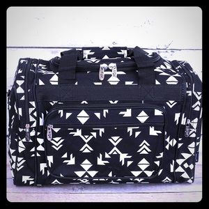 Black and White Aztec Duffle